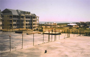 StableCrete stops chloride contamination from the ocean. Cinnamon Beach Condominium, Palm Coast, Florida