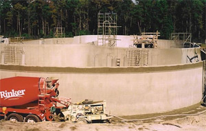 StableCrete applied to shotcrete surfaces to waterproof. Fleming Island WWTP, Clay County, FL